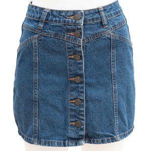 Factorie Button Front Denim Mini Skirt Size 8